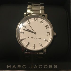 NWOT Marc Jacob Silver Watch with large white face